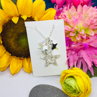 Cluster star necklace