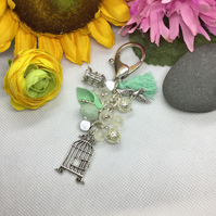 Bird and Cage 'Be Free' Keyring Bagcharm