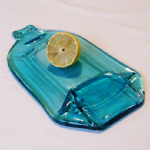 Bombay Blues flattened gin bottle board