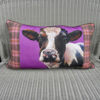 Cow pillow. Friesian cow cushion. Large rectang cushion. FREE UK Postage.