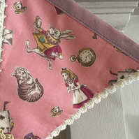 Alice in Wonderland Bunting. FREE UK POSTAGE & PACKAGING . Crochet garland.