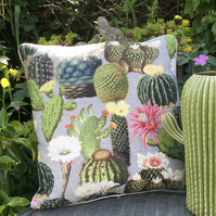 Cactus Cushion. Succulent pillow. FREE UK P&P. Flowering cacti cushion.
