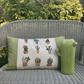 Cactus oblong cushion. FREE UK P&P.  Succulents and cacti pillow.