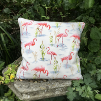 Flamingo cushion. Flamingoes scatter cushion. FREE UK Postage. Flamingo pillow.