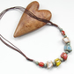 Necklace multi colour stone nugget adjustable