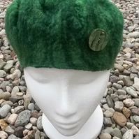 Green hand felted hat - SOLD but could make similar