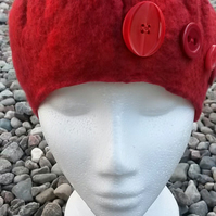 Felted merino hat, made to order in your colour of choice