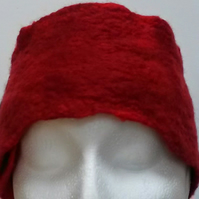 Shades of Red Felted Head or Neck warmer