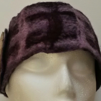 Purple and Horn Felted Head or Neck warmer