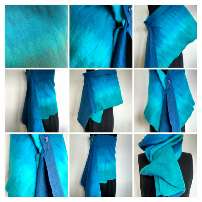 Pure merino felted wraps