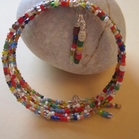 African Christmas Love Trade Bead Bangle-Original Krobo Trade Beads