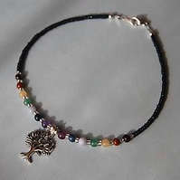 Tree of Life Chakra Anklet-Stunning New Design