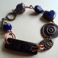Copper Wired Ceramic & Glass Beaded Bracelet Bo Hulley and Acorn Features
