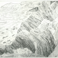 Cliffs near Llangrannog