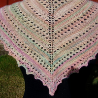 Hand knitted Shawlette or Scarf