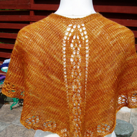 Golden Brown Camelhair Shawlette