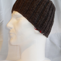 Hand Knitted Ribbed Beanie