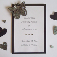 Handmade Wedding Save the Date Cards - The Butterfly Collection