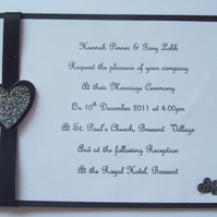 Wedding Invitations - The Hearts Collection