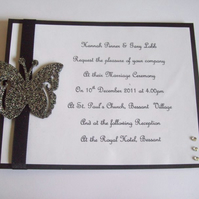 Wedding Invitations - The Butterfly Collection