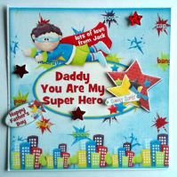 Personalised Super Hero Birthday or Father's Day Card