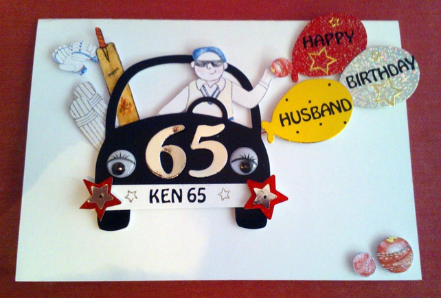 Personalised Cricket Themed Birthday Card Folksy
