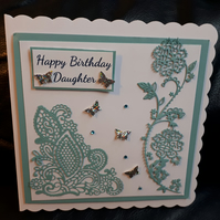 Personalised Handmade Female Birthday Card - any colour