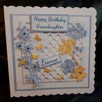 Personalised Handmade Female Birthday Card