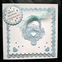 Personalised Baby Shower or New Baby Card- Boy - Girl - Tattered Lace
