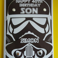 Personalissed Star Wars Birthday Card, Father's Day Card, Dad, Son,Grandson