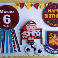 Peronalied Football Team Birthday Card, Son, Grandson,any age