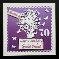 Personalised Handmade Female, brthday Card - Mum, Nan,Daughter,Sister,Grandma,