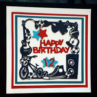 Boy Personalised Birrthday Card - 5th 6th 7th 8th 9th 10th 11th 12th