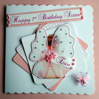 Personalised Daugter 1st Birthday  Card - grandaughter  Niece