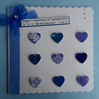 Personalised Wedding Anniversary Cardd - Husband, Wife, Sapphire