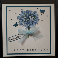 Handmade Personalised Birthday Card - Mum, Grandma, Sister, Mother's Day Card