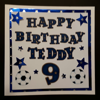 Handmade Personalised Birthday Card - Any name, 5th,6th,7th,8th,