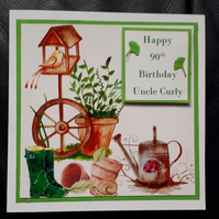 Personalised Garden Themed Birthday Card - Retirement Card - Father's Day Card