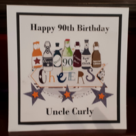 Handmade Personalised Birthday Card - Dad, Grandad,Brother,Son,Uncle