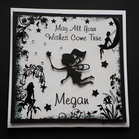 Handmade Personalised  Fairy Themed Card