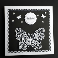 Butterfly Birthday Card, Mother's Day Card