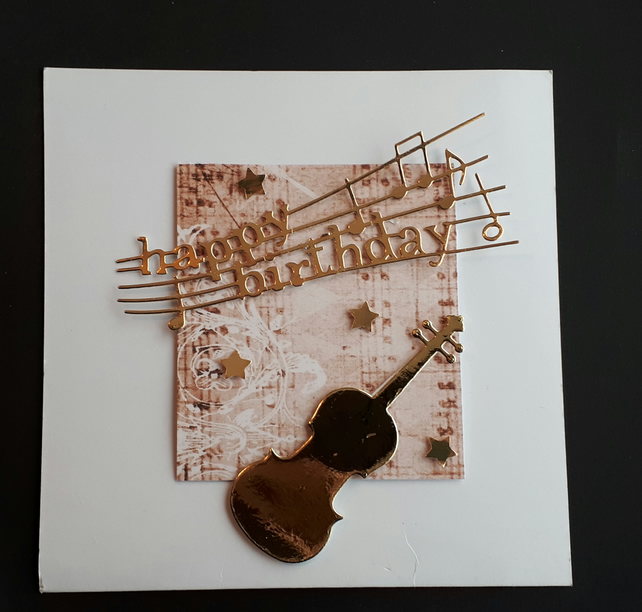 Hnndmade Music Birthday Card