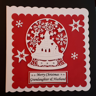 Personalised Snowgobe 3D Christmas Card