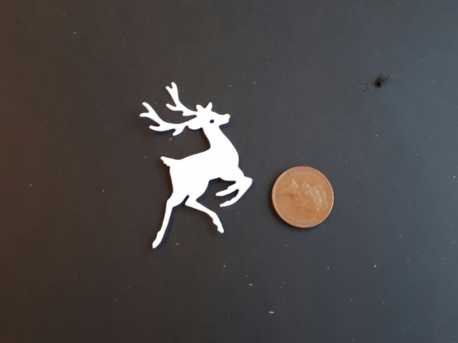 8 Reindeer Die Cut Card Toppers, Christmas