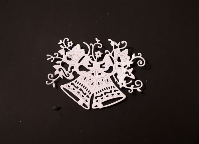 5 Tattered Lace Double Bell Die Cuts, Christmas, Wedding