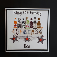 Personalised 30th birthday Male Card