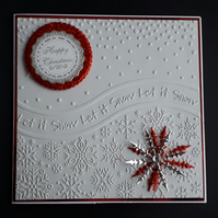 Personalised Embossed Christmas Carx