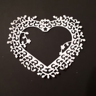 5 Tattered Lace Die Cut Hearts Card Toppers