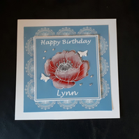 Personalised Female Birthday Card, Mother's Day Card