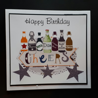 Personalised Male Birthday Card